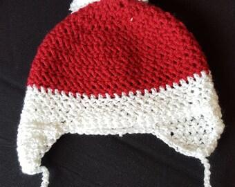 Crocheted Santa Hat for Infants
