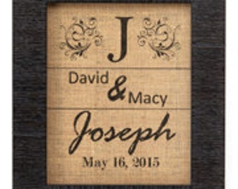 Personalized Burlap Wall Decor