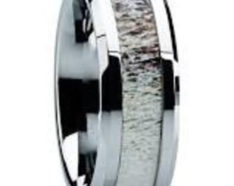 Authentic Elk Antler Titanium Ring