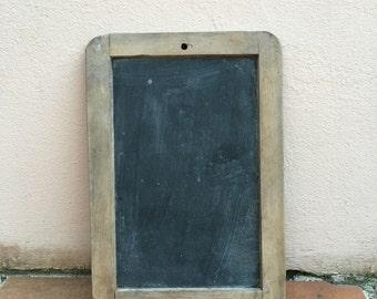 Vintage Childs blackboard,slate chalk board,old school house, french wood 15