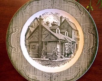 The Old Curiosity Shop, set of 4 plates. Made in the USA