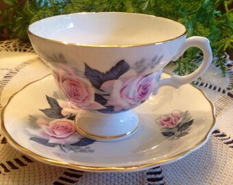 Consort fine bone china teacup and saucer