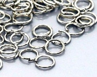 120 jump rings - 0.7 * 6 mm - silver / A1-0002