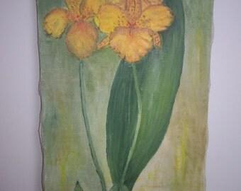 Painting vintage flower