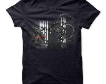 Aliens - Darth Vader vs Aliens xenomorph Tshirt