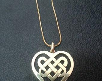 Handcut Brass pendant Eternal love symbol