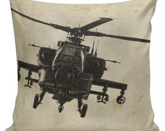 Army Gifts, Apache, Pilot Gift, Military Helicopter, Pillow Cases, Throw Pillows, Pillows, Serve and Protect, Military Gifts, #MI0009