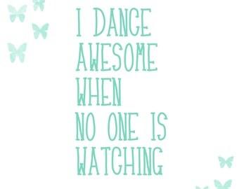 Dance alone printable
