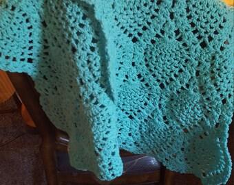 Mint green  crochet Scarf