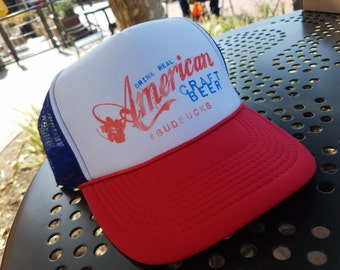 American Craft Beer Trucker Hat Craft Beer Lovers Drinking Hat Trucker Cap