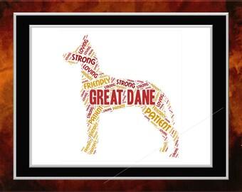 Great Dane Word Art