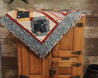 Handmade Quilt, Modern Quilt, Throw/Lap/sofa Quilt, Moda