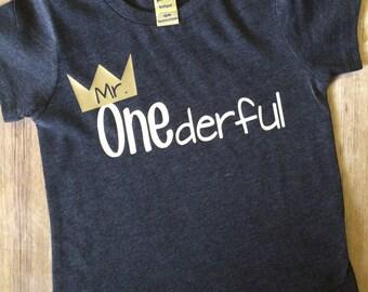 boys first birthday shirt, mr. Onederful, boys tshirt, birthday tee, toddler birthday, birthday gift for boys