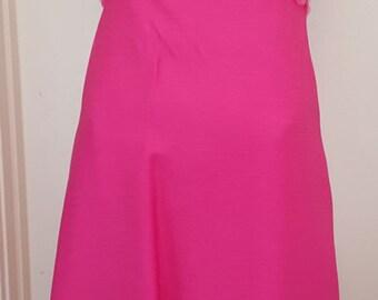 Vintage 60s I MAGNIN Pink Hostess Maxi Party Dress Cocktail Evening Paillettes S/XS
