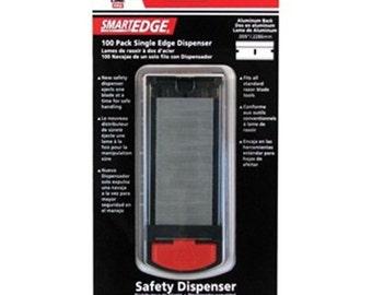 American Safety Razor 65-0502 Single Edge Razor Blade Dispenser with Aluminum Back Blades, 100-Pack