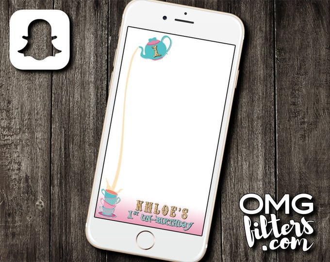 Wonderland Party - Custom Snapchat Filter - Any Age!
