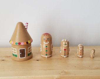 Gingerbread Nesting Dolls