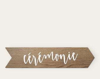 Custom wedding rustic stain wood panel sign Sticker varnish