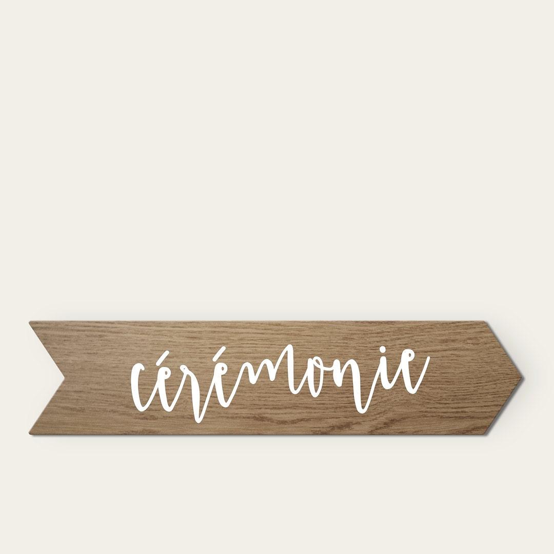 panneau bois lasur mariage champ tre personnalis pancarte. Black Bedroom Furniture Sets. Home Design Ideas