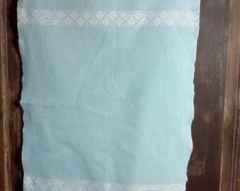Vintage handstitched cotton kitchen towel.