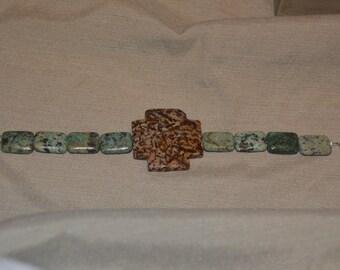 Stone Cross Bracelet