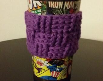 Purple Basket Weave Mug Cozy