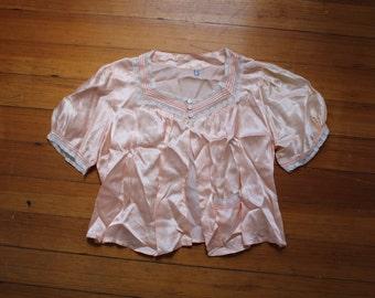 Girly Vintage Pink Silk Sweater