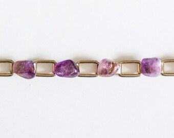 Vintage Purple Rock Bracelet