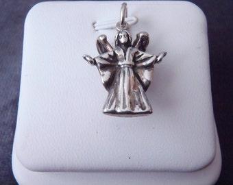 Sterling Silver 3D Angel Pendant RP36