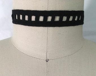 Choker Black Crochet Lace