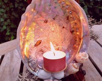 Crown Jewel of the Ocean Abalone shell mini altar
