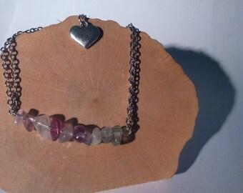 Romantic bracelet in rainbow fluorite