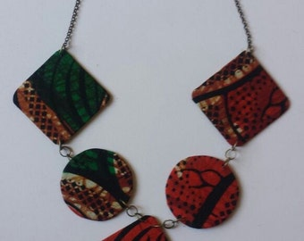 Ankara Printed Necklace