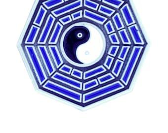 Ying Yang Tai Chi Octagon Pin