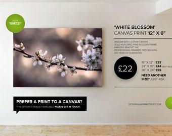 GMT021 White Blossom - Canvas Print