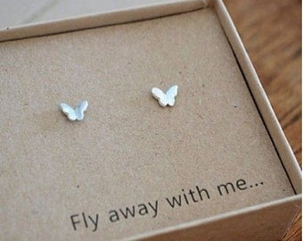 Fly Away With Me 'Butterfly' Studs