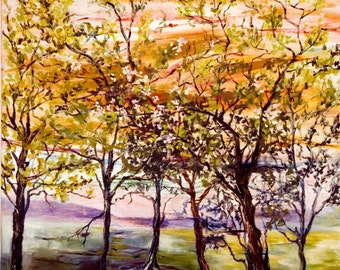 Trees for Kabeh, oil on canvas, original ART work, nature ART