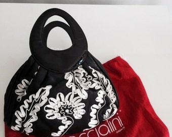 Braccialini Black leather handbag
