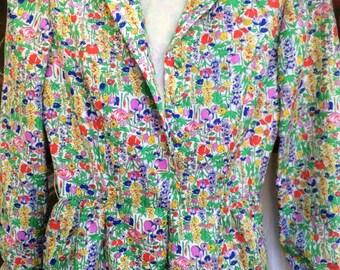 Bright, fun, colorful 1970s dress
