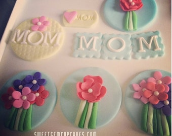 Mother's Day/ Flower Fondant Toppers