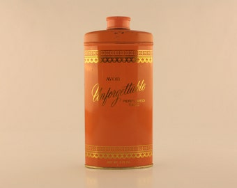 Vintage 1966 Avon Unforgettable Perfumed Talc