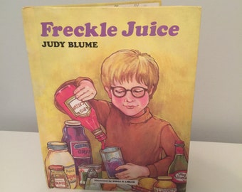 Freckle Juice by Judy Blume 1971 Vintage Book
