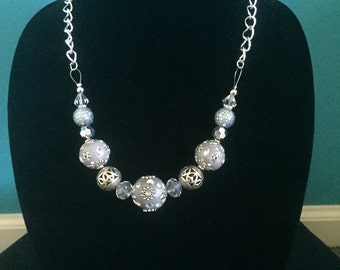 Grey & Silver Necklace