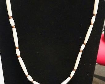 PM009- bone and copper necklace
