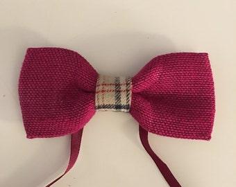 Bowtie in linen pink