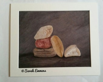Stone art print from original artwork by Sarah Emmens