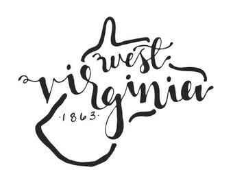 West Virginia - printable download
