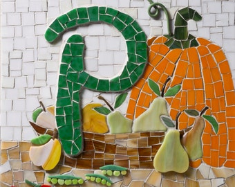 Letter P ~ from My Mosaic Alphabet Book