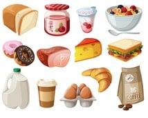 Breakfast Clipart Sandwich Clip art Coffee clip art Food Vector graphic Food clip art Sandwich clipart donut clip art ice cream clipart