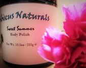 All-Natural Nourishing Body Polish/Emulsified Sugar Scrub, cruelty free, paraben free